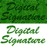 Signature digitale Image libre de droits