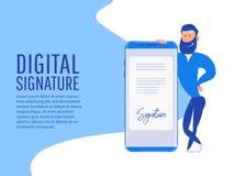 Signature digitale Collection créative de personnes Photographie stock