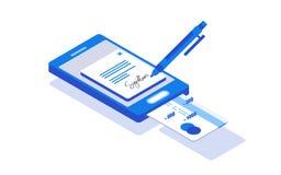 Signature digitale Collection créative de personnes Photo stock