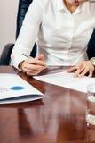Signature document Stock Images