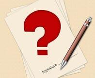 Signature du contrat Image libre de droits