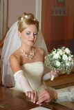 Signature du contrat de mariage Image stock
