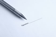 Signature here Royalty Free Stock Photos