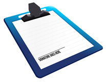 Signature here on a clipboard Royalty Free Stock Images