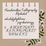 Signature manuscrite Calligraphie moderne Lettres majuscules et minuscules Manuscrit tiré par la main Photos libres de droits