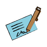 Signature and pen icon image Stock Images
