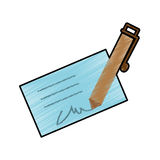 Signature and pen icon image Royalty Free Stock Photography