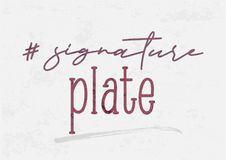# signature plate Text illustration Stock Photography
