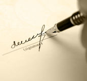 Signature retro Stock Photo