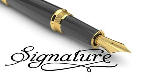 Signature Royalty Free Stock Images