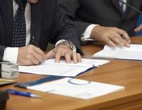 Signature signing Stock Image
