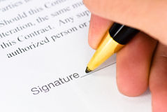 Signature space Royalty Free Stock Image