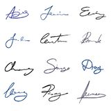 Signature vector set Royalty Free Stock Photo