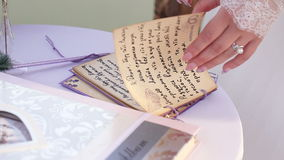Signature wedding vows stock footage