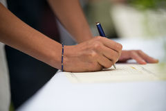 Signatures Royalty Free Stock Image