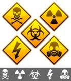 Signaux d'avertissement. Image libre de droits