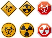 Signaux d'avertissement Photos stock