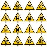 Signaux d'avertissement Photographie stock libre de droits