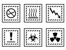 Signaux d'avertissement Photo libre de droits