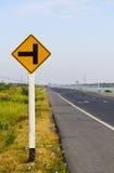 Signaux d'avertissement de circulation Photos libres de droits