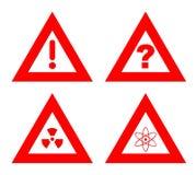 Signaux d'avertissement de risque Photo libre de droits