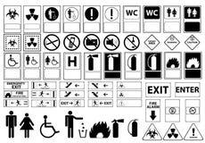 Signaux d'avertissement pour l'hôpital Images libres de droits