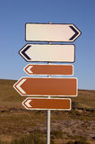 Signaux de direction Photographie stock libre de droits