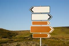 Signaux de direction Image libre de droits