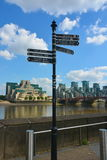 Signaux de direction de Londres Photo stock