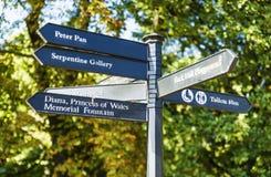 Signaux de direction en Hyde Park Images stock