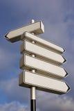 Signaux de direction vides image libre de droits