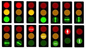Signaux de feux de signalisation image libre de droits