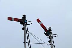 Signaux ferroviaires de train photo stock