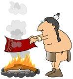 Signaux fumigènes indiens Image stock