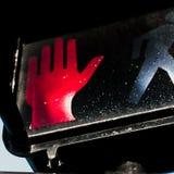 Signaux lumineux de marche électriques images libres de droits