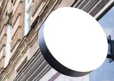 signboard Åtlöje upp rund form arkivfoton