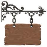 signboard деревянный Стоковые Фотографии RF