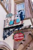 Signboard of an Alsatian museum in Strasbourg. Strasbourg, France - September 09, 2018: signboard of an Alsatian museum in Strasbourg. Strasbourg is the capital stock photos