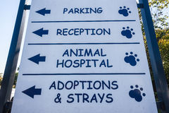 Signboard Animal Hospital Veterinary  Stock Image