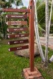Signboard on the beach at hotel, Koh Samui Stock Photo