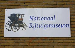 Signboard at the Borg Nienoord. Leek.May-11-2011.  Signboard at the Carriage Museum rijtuigmuseum in Leek. The Netherlands Royalty Free Stock Photography