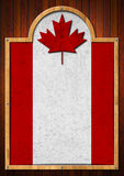 Signboard with Canadian Flag Stock Image