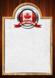 Signboard with Canadian Flag Stock Images