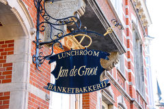 Signboard candy store in Den Bosch Royalty Free Stock Photography