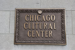 Signboard at Chicago Cultural Center Royalty Free Stock Photos