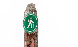Signboard for climbers Stock Photography