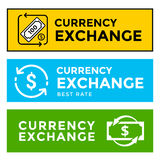Signboard currency exchange Stock Photography