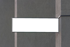 signboard Derisione rettangolare di forma su sulla parete immagine stock libera da diritti