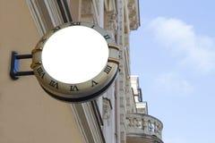 signboard Derisione su Figura rotonda fotografie stock libere da diritti