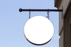 signboard Derisione su Figura rotonda fotografia stock libera da diritti